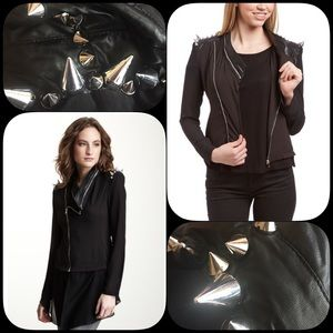 Gracia Jackets & Blazers - ➕Gracia Leather Chiffon Jacket -detachable Chiffon