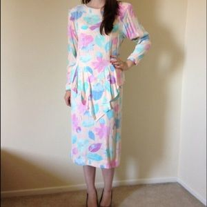 The Kollection Dresses & Skirts - Vintage Pastel Floral Dress by The Kollection