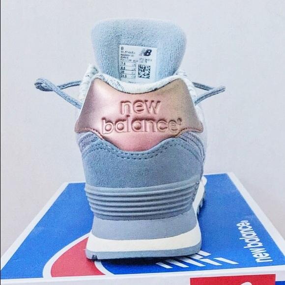 New Balance 574 Grå Rose Gull pE5mu