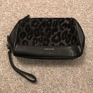 Coach large leather wristlet