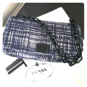 Prada Handbags - NWT Prada Tela Tweed Shoulder Bag