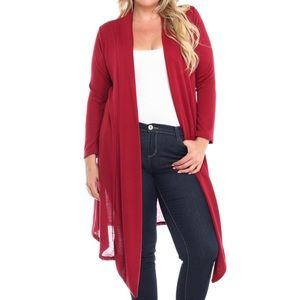 Sweaters - Burgundy Cardigan