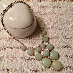 Mint sage statement necklace