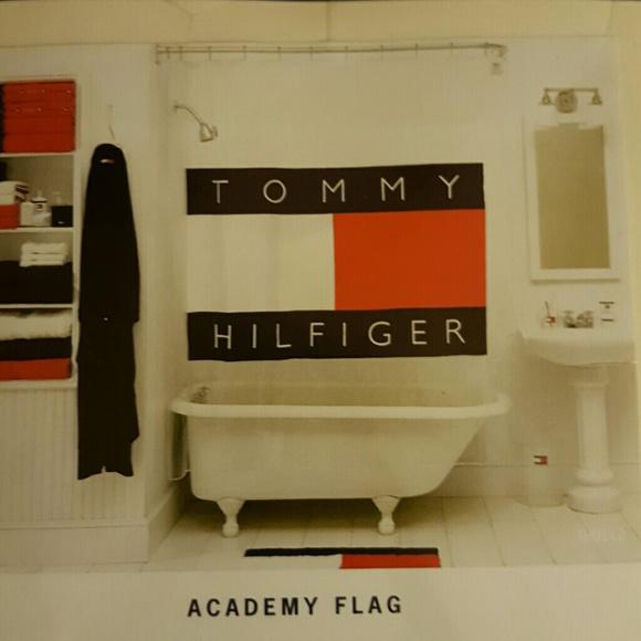 Tommy Hilfiger Accessories | Academy Flag Vinyl Shower Curtain ...