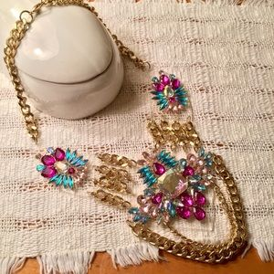 TopShop rhinestone statement necklace