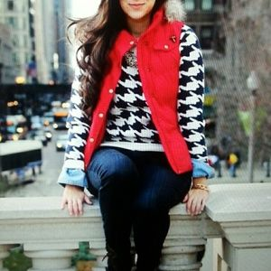Laura Scott Jackets & Blazers - Beautiful Cardinal Red Puffy Vest