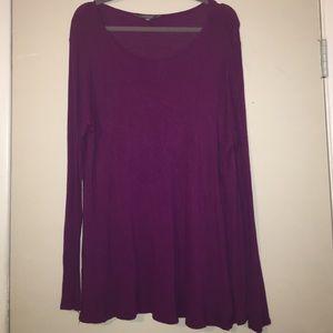 Tops - Daisy Fuentes Purple Long Sleeve Top