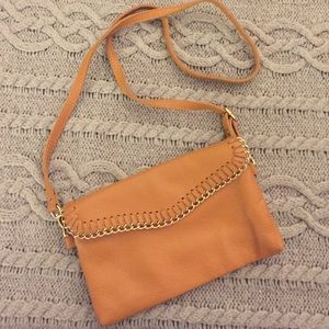 Cross body brown purse