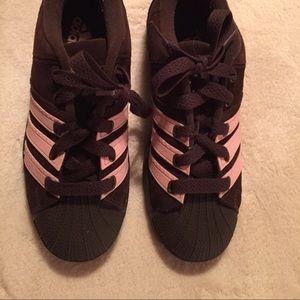 Adidas Shoes - Limited Edition AdidasSuperstar3strp Brwn/Pink