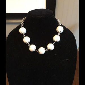 NWT John Wind Maximal Art Cotton Ball Necklace