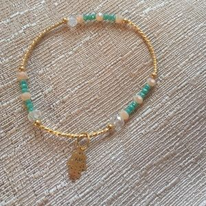Handmade crystal beads bracelet.