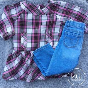GAP Other - Plaid Tunic & Blue Jeans Bundle.