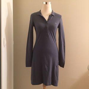 0103df094 Lacoste Dresses - Lacoste L!ve Long Sleeve Pique Polo Dress