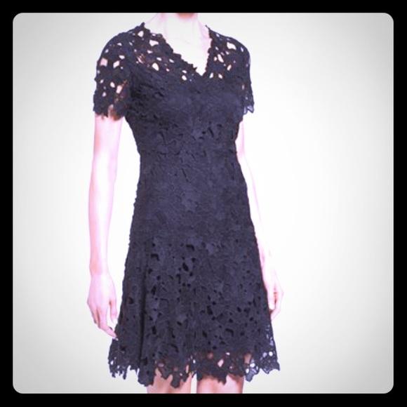 Elie Tahari Samira V Neck Floral Lace Dress Nwt