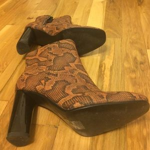 H&M Shoes - Snakeprint Boots