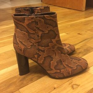 H&M Shoes - Snakeprint Boots