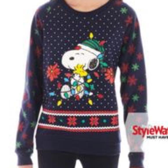 cute peanuts christmas sweater