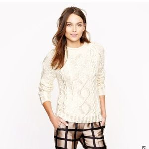 J. Crew Sweaters - J Crew Hand knit Beaded Cable Sweater