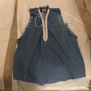 Furst of a Kind denim shirt dress
