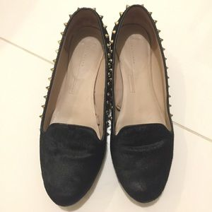 Zara velvet flat shoes