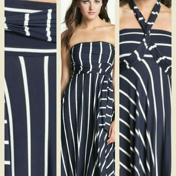 2a7411acaa Elan Beach Convertible Striped Dress. M 58269d0e2fd0b7bc8101bc9e