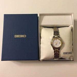 Seiko Accessories - Seiko Solar 2-Tone Stainless Steel Solar Watch