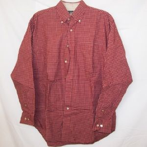 Button up red long sleeve shirt