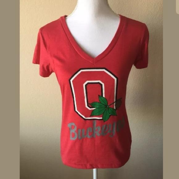 classic fit aa771 8291f Colosseum Tops - OHIO State Buckeye Womens Short Sleeve Shirt