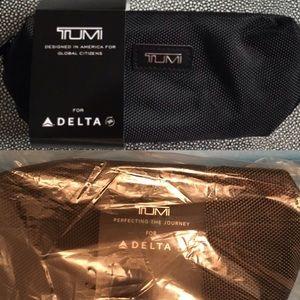 Tumi Handbags - Tumi black soft travel case + travel kit
