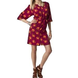 Tucker for Target Cranberry Floral Tunic Dress