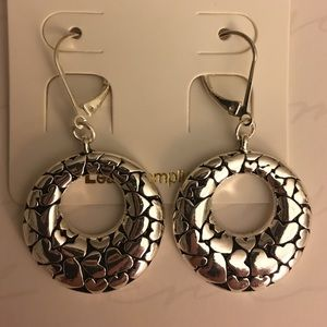 Stylish silver colored earrings-NEW !!!