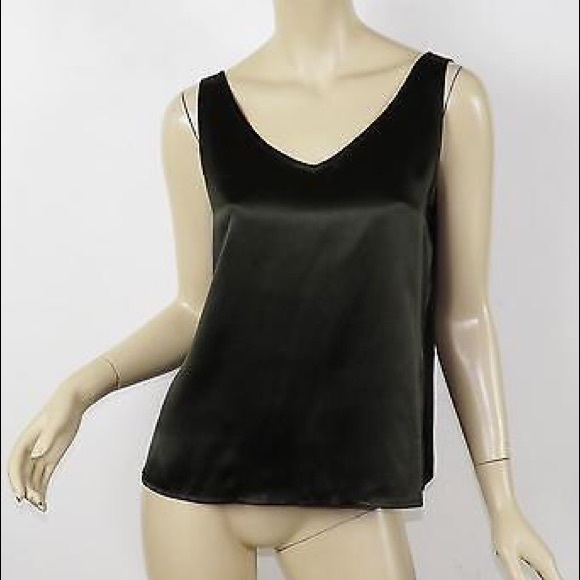 f2556a111f24dc Eileen Fisher Tops - EILEEN FISHER 100% Silk V-Neck Cami Shell Tank Top