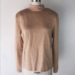 St. John gold knit sweater L