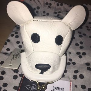 NWT Fossil Pooch coin purse