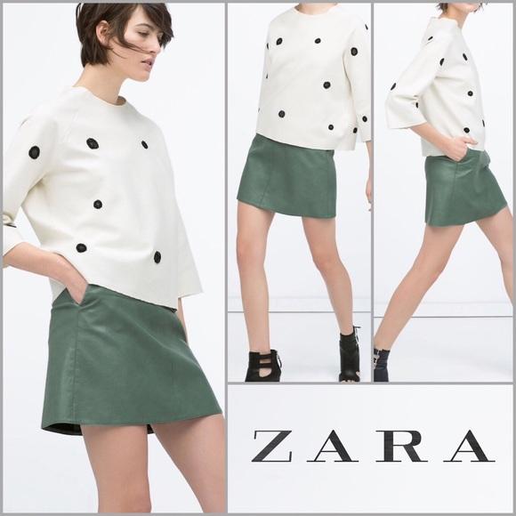 59 zara dresses skirts zara vegan leather skirt