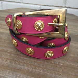Vintage Leather Lion Belt