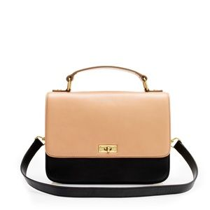 J. Crew Handbags - NWT Edie Purse Tricolore Colorblock Tan Black