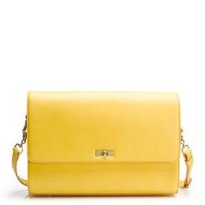 J. Crew Handbags - NWT J.Crew Edie Grand Spicy Gold yellow leather