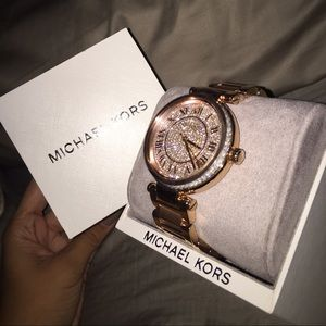 Michael Kors Accessories - Michael Kors rose gold diamond watch