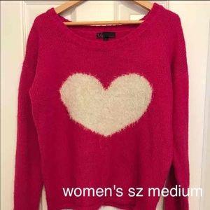 Women's size medium heart sweater