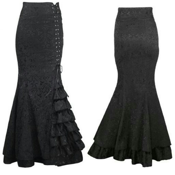 Dirty Girly Skirts - Jacquard Gothic Steampunk Corset Skirt