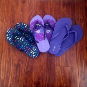Old Navy Shoes - NWOT bundle of 3 Old Navy flip flops