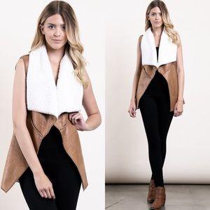 Faux Leather and Fur Vest