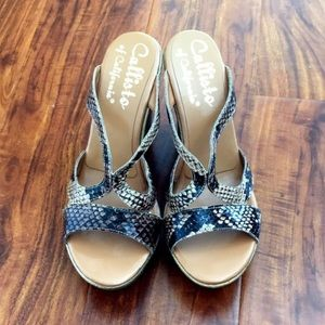 Callisto of California Shoes - NWOT Callisto wedges