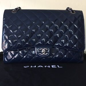 AUTHENTIC CHANEL QUILTED MAXI CLASSIC SINGLE FLAP