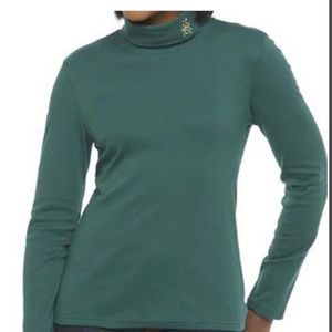 NWT Green candy cane turtleneck