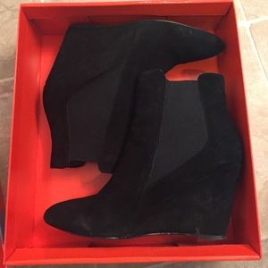 Charles by Charles David Black Suede Booties