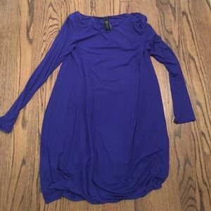 Zero + Maria Cornejo Dresses & Skirts - Maria Cornejo purple long sleeve cotton dress