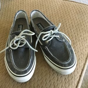 Other - Worn once Men's grey canvas Sperrys!
