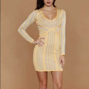 WOW couture Dresses & Skirts - WOW Couture Yellow Long Sleeve Dress